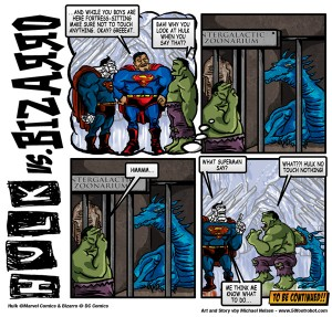 Hulk vs Bizarro vs Superman